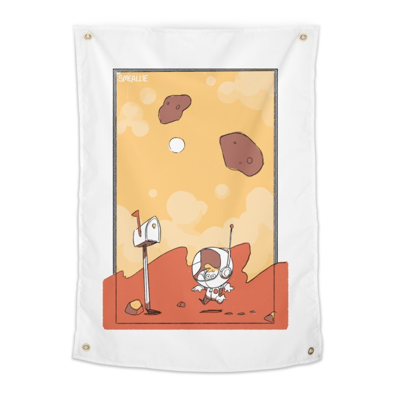 Lil Mister Mars Home Tapestry by Kyle Smeallie's Design Store