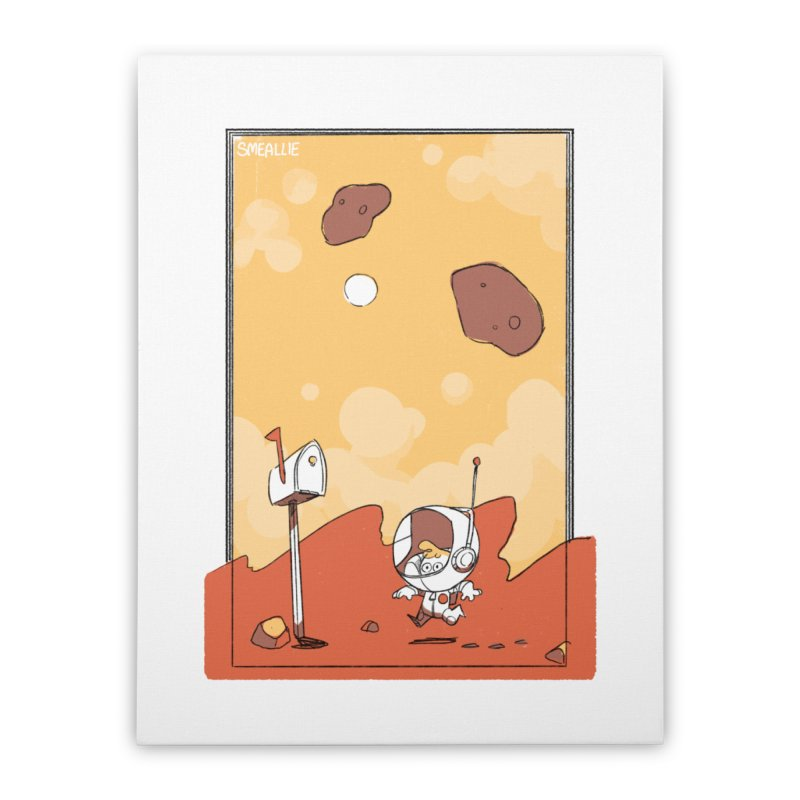 Lil Mister Mars Home Stretched Canvas by Kyle Smeallie's Design Store