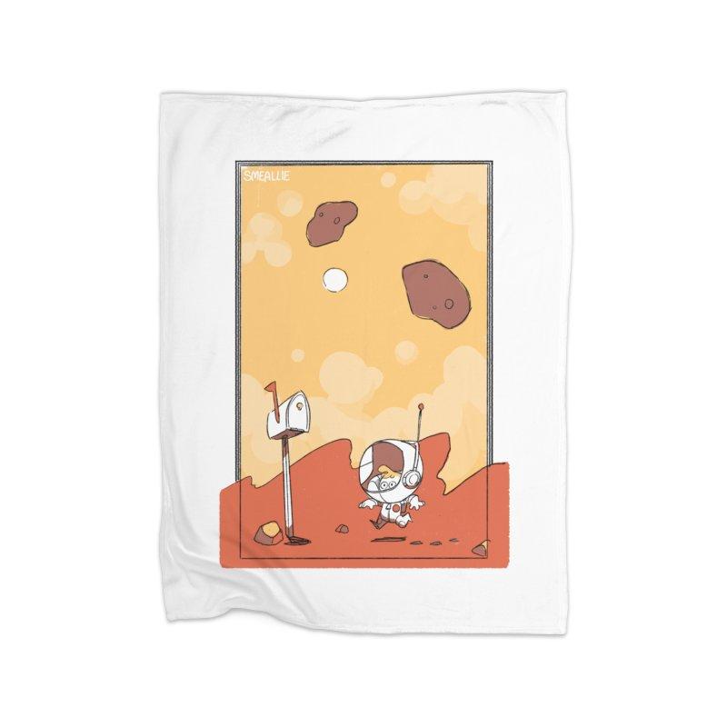 Lil Mister Mars Home Fleece Blanket Blanket by Kyle Smeallie's Design Store