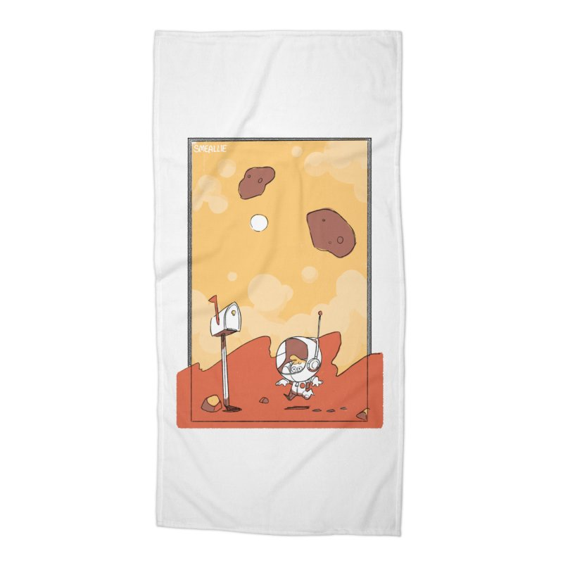 Lil Mister Mars Accessories Beach Towel by Kyle Smeallie's Design Store