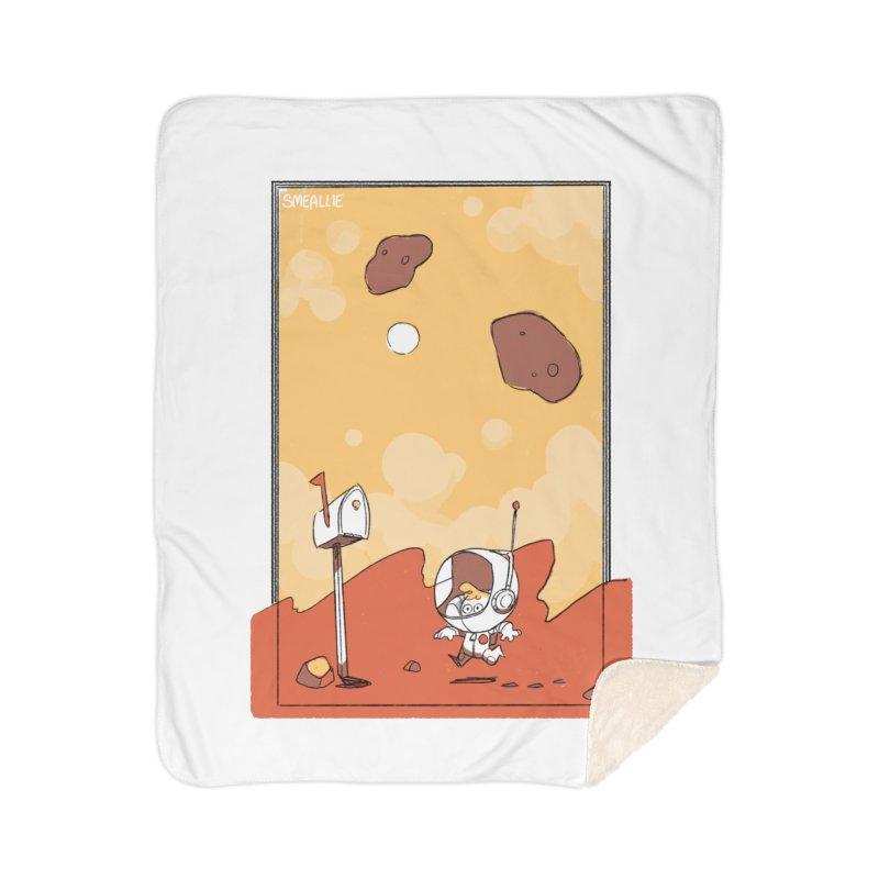 Lil Mister Mars Home Sherpa Blanket Blanket by Kyle Smeallie's Design Store