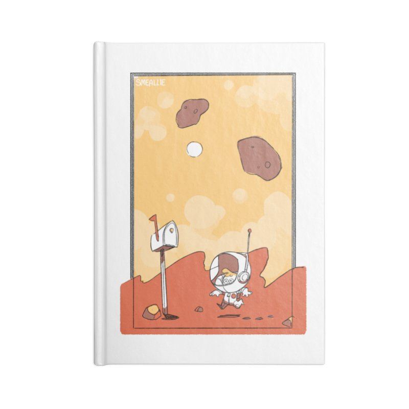 Lil Mister Mars Accessories Lined Journal Notebook by Kyle Smeallie's Design Store