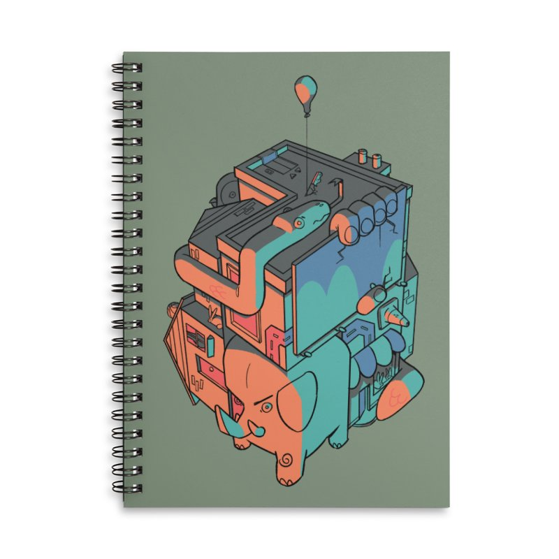 The Object Accessories Lined Spiral Notebook by Kyle Smeallie's Design Store