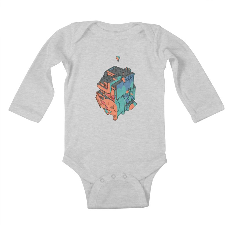 The Object Kids Baby Longsleeve Bodysuit by Kyle Smeallie's Design Store
