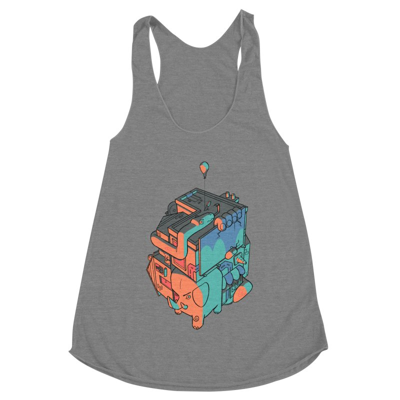 The Object Women's Racerback Triblend Tank by Kyle Smeallie's Design Store