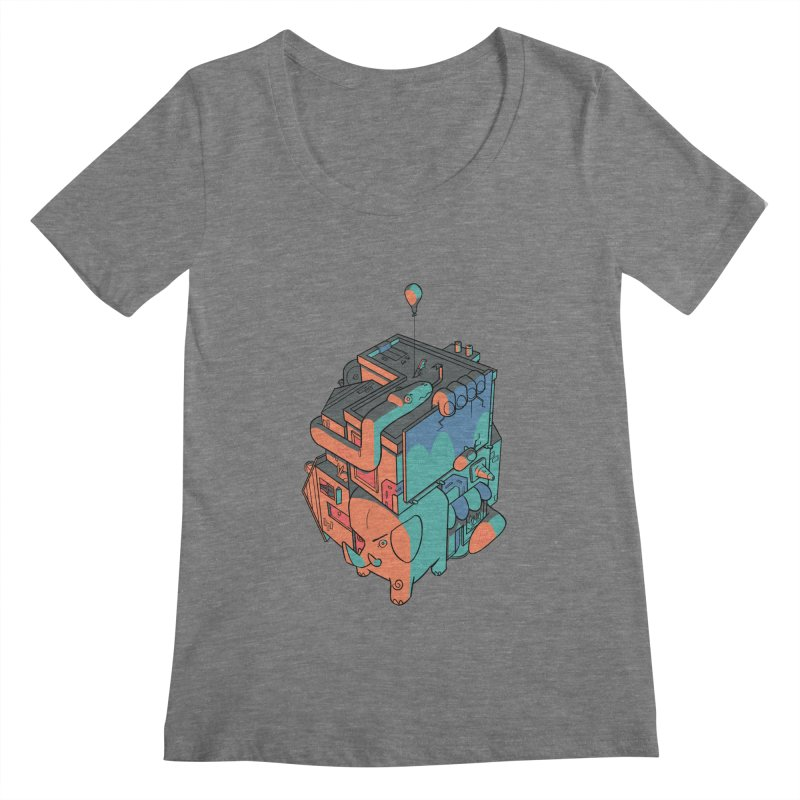 The Object Women's Scoopneck by Kyle Smeallie's Design Store