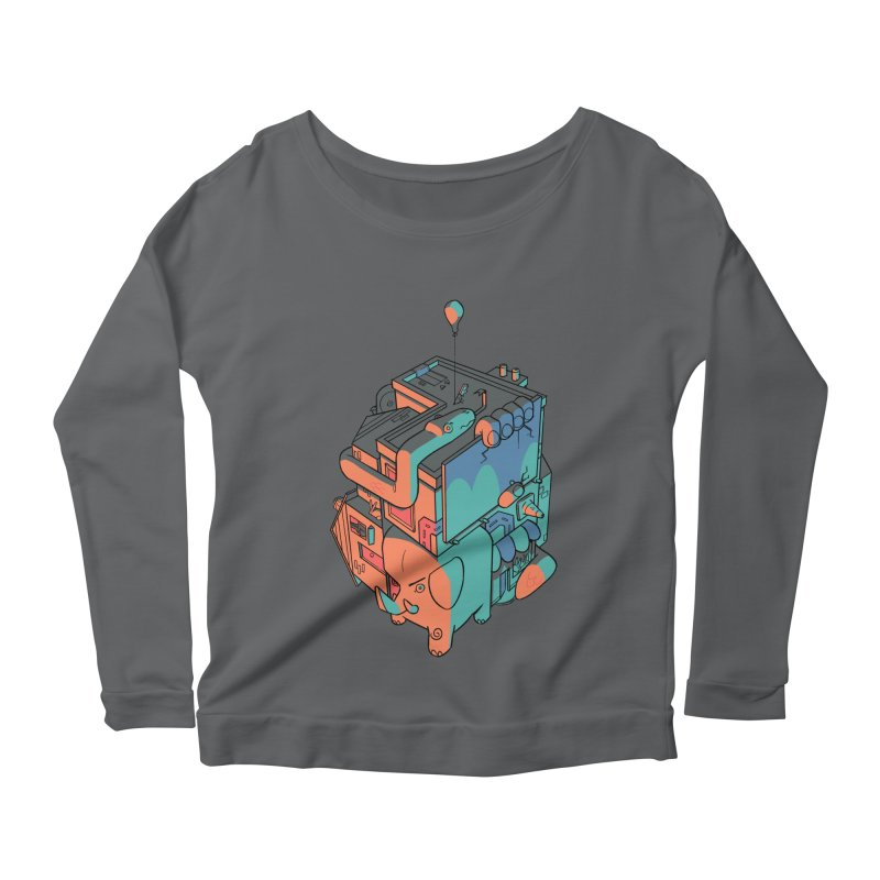 The Object Women's Scoop Neck Longsleeve T-Shirt by Kyle Smeallie's Design Store