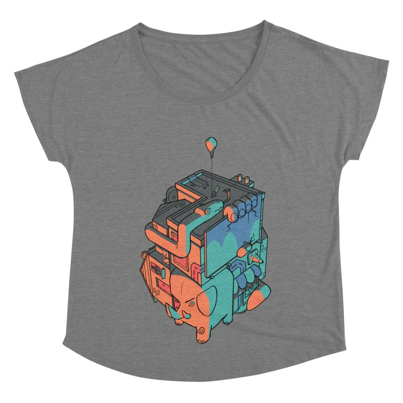 The Object Women's Dolman Scoop Neck by Kyle Smeallie's Design Store