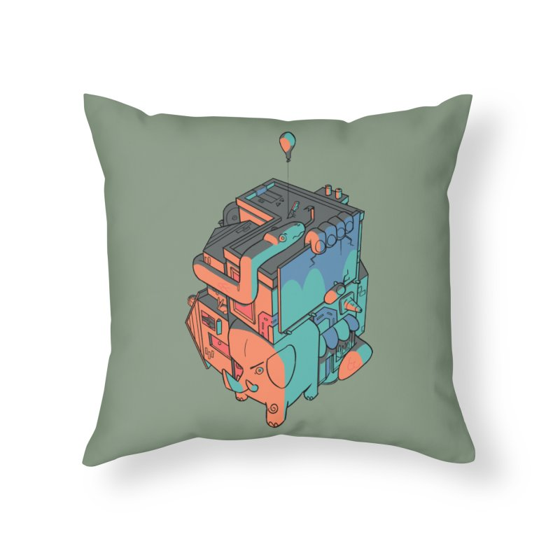 The Object Home Throw Pillow by Kyle Smeallie's Design Store