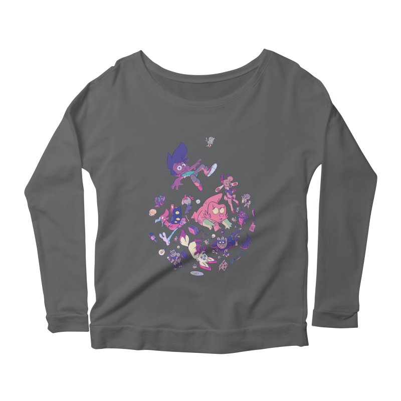 Big Bang Women's Scoop Neck Longsleeve T-Shirt by Kyle Smeallie's Design Store