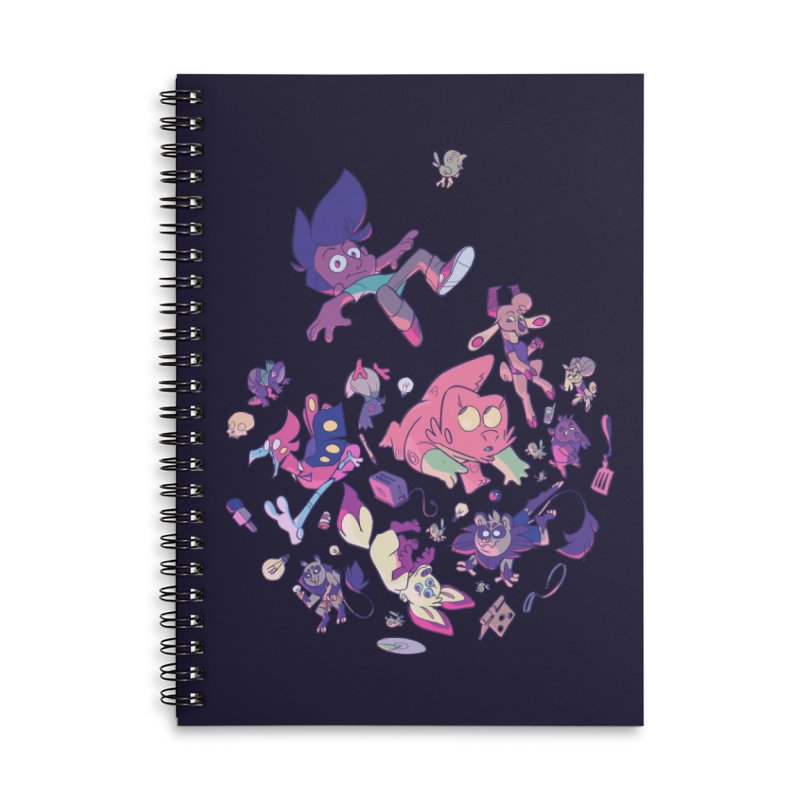 Big Bang Accessories Lined Spiral Notebook by Kyle Smeallie's Design Store