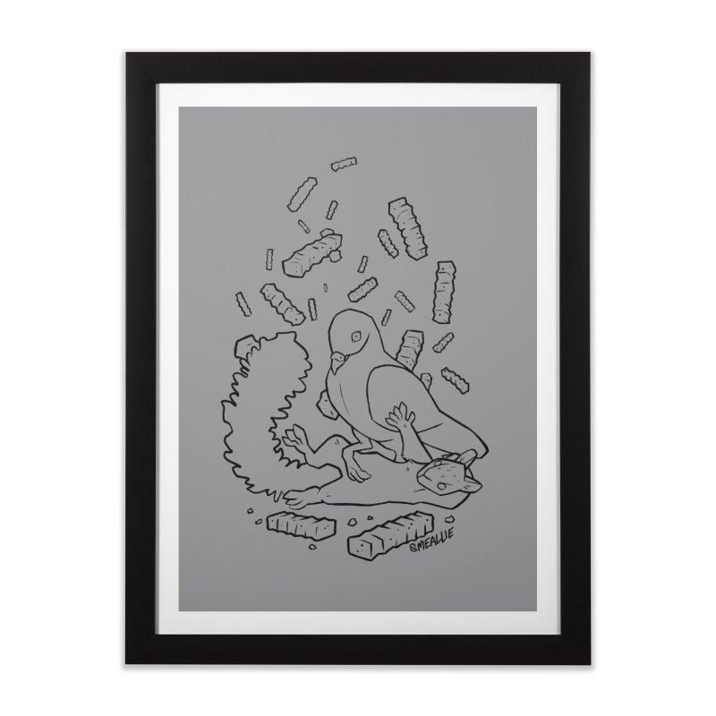 Madison Squirrel Home Framed Fine Art Print by Kyle Smeallie's Design Store