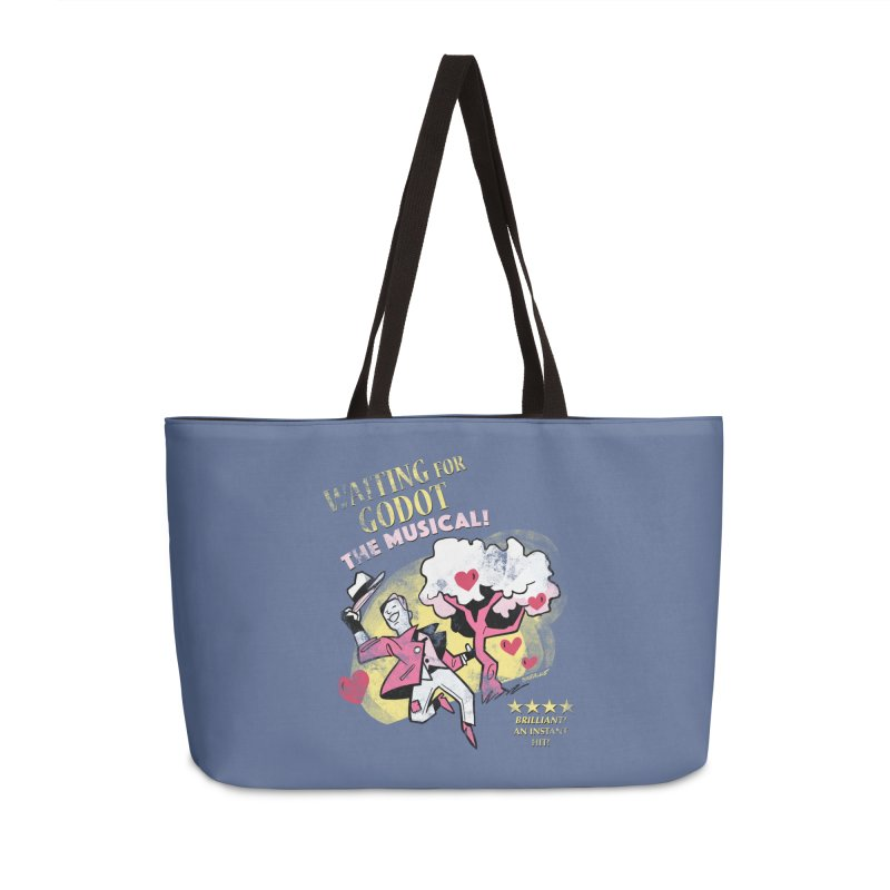 Waiting For Godot Accessories Weekender Bag Bag by Kyle Smeallie's Design Store