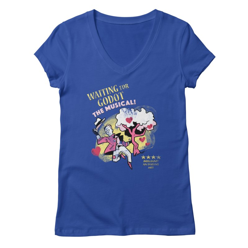 Waiting For Godot Women's Regular V-Neck by Kyle Smeallie's Design Store