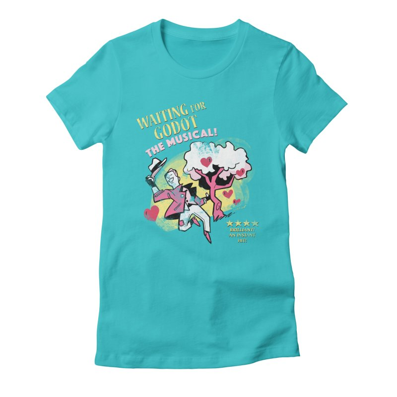Waiting For Godot Women's Fitted T-Shirt by Kyle Smeallie's Design Store