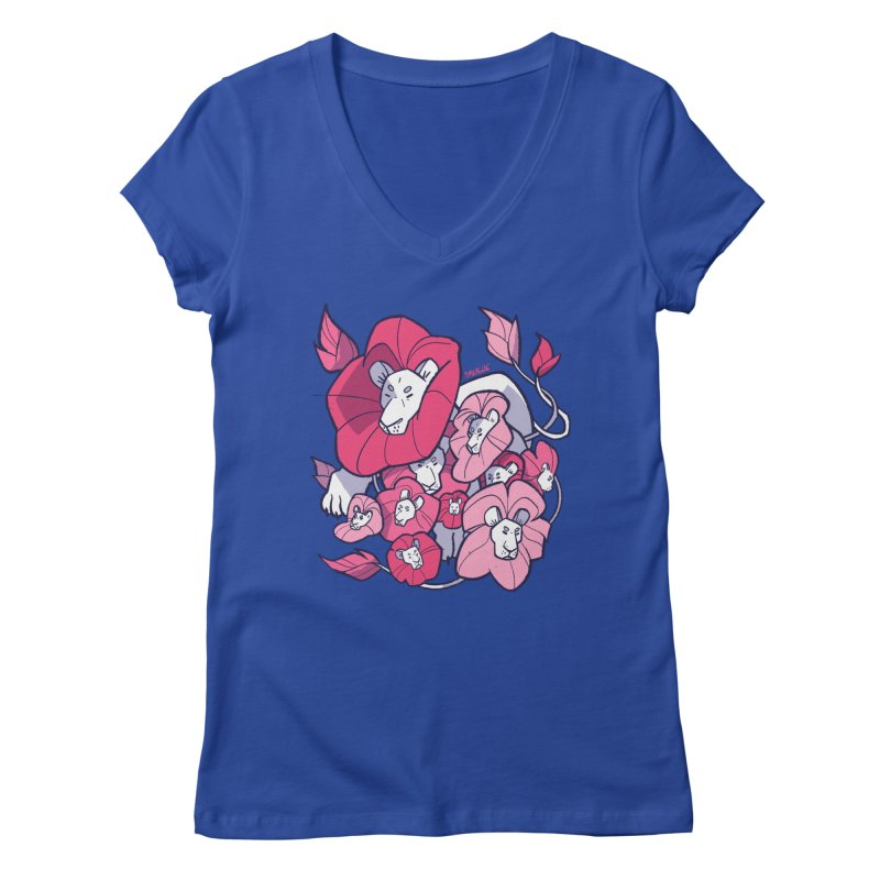 Bouquet Women's Regular V-Neck by Kyle Smeallie's Design Store