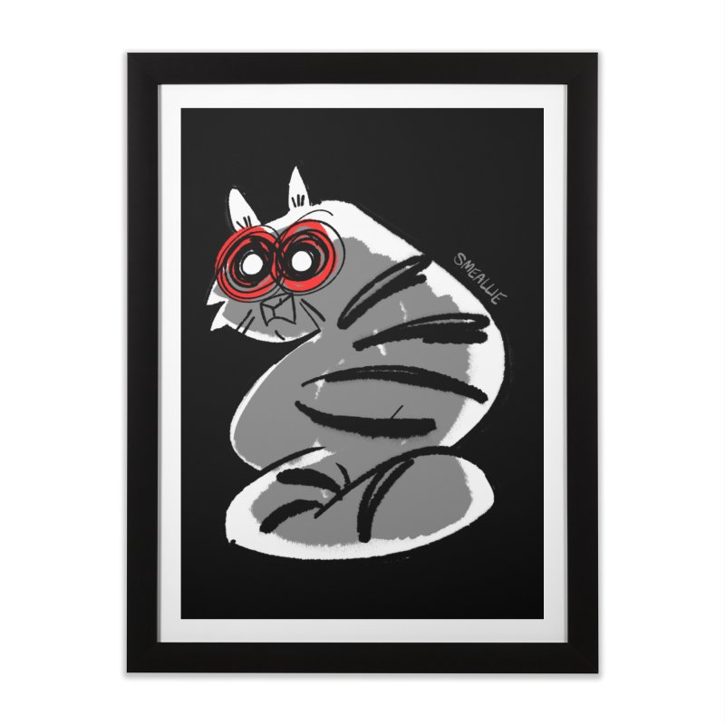 fatcat Home Framed Fine Art Print by Kyle Smeallie's Design Store