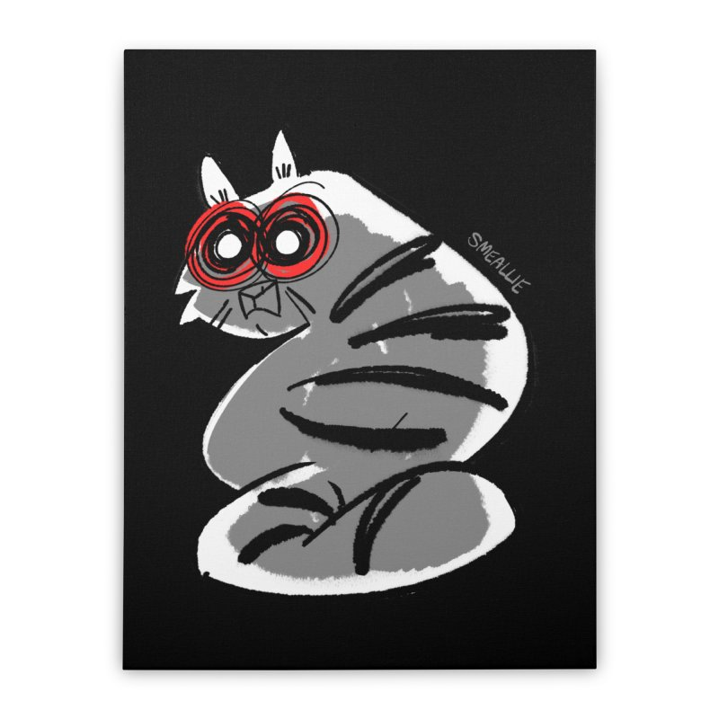 fatcat Home Stretched Canvas by Kyle Smeallie's Design Store