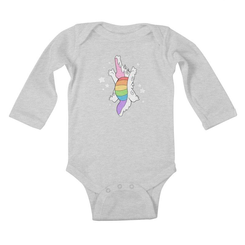 Super Gator Pride Kids Baby Longsleeve Bodysuit by Kyle Smeallie's Design Store