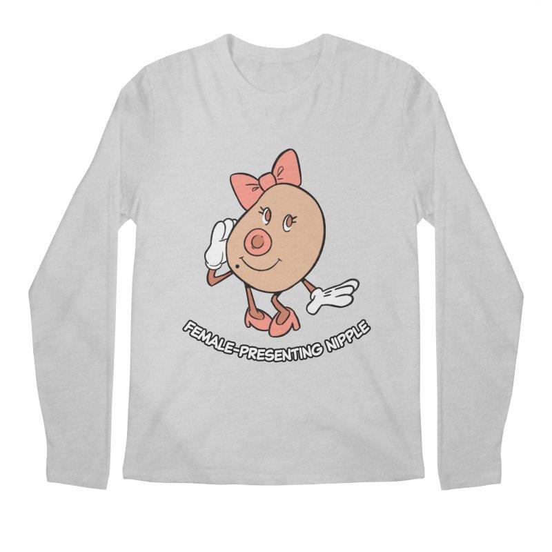 Female-Presenting Nipple Men's Regular Longsleeve T-Shirt by Kyle Smeallie's Design Store