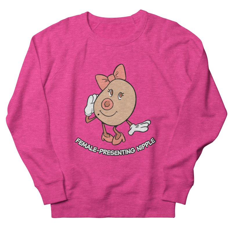 Female-Presenting Nipple Men's French Terry Sweatshirt by Kyle Smeallie's Design Store