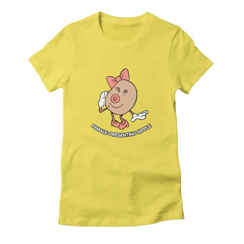 Female-Presenting Nipple Women's T-Shirt by Kyle Smeallie's Design Store