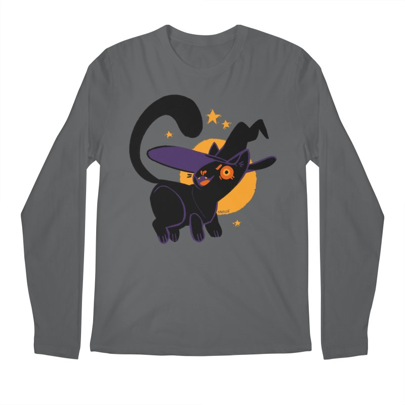 Whiskered Witch of the West Men's Regular Longsleeve T-Shirt by Kyle Smeallie's Design Store
