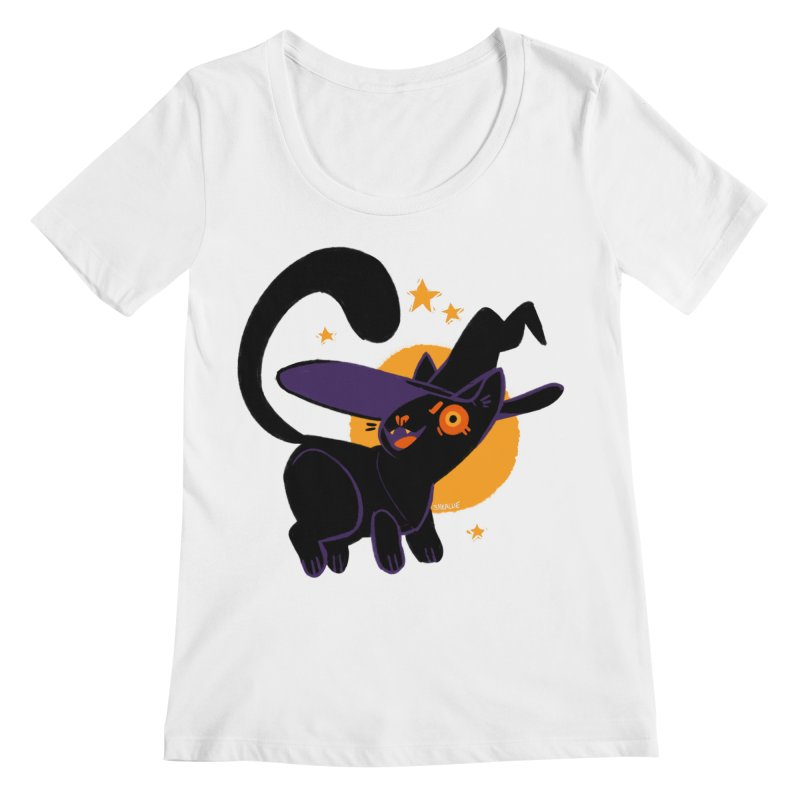 Whiskered Witch of the West Women's Scoopneck by Kyle Smeallie's Design Store