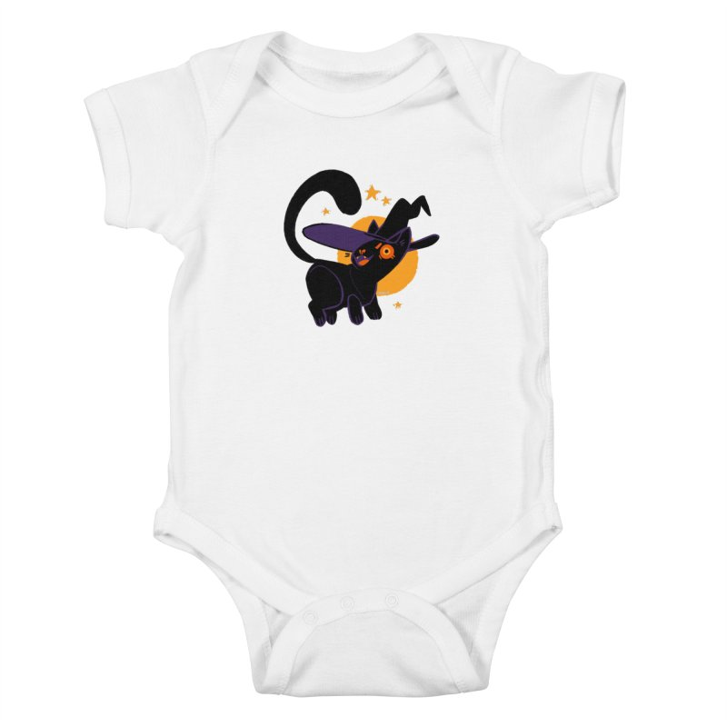 Whiskered Witch of the West Kids Baby Bodysuit by Kyle Smeallie's Design Store