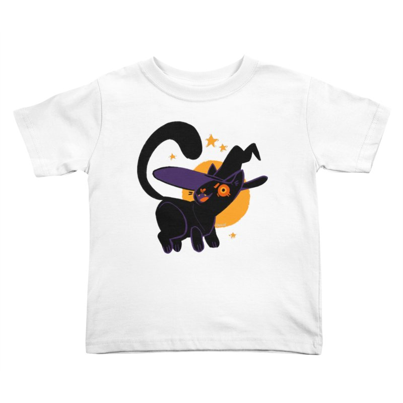 Whiskered Witch of the West Kids Toddler T-Shirt by Kyle Smeallie's Design Store