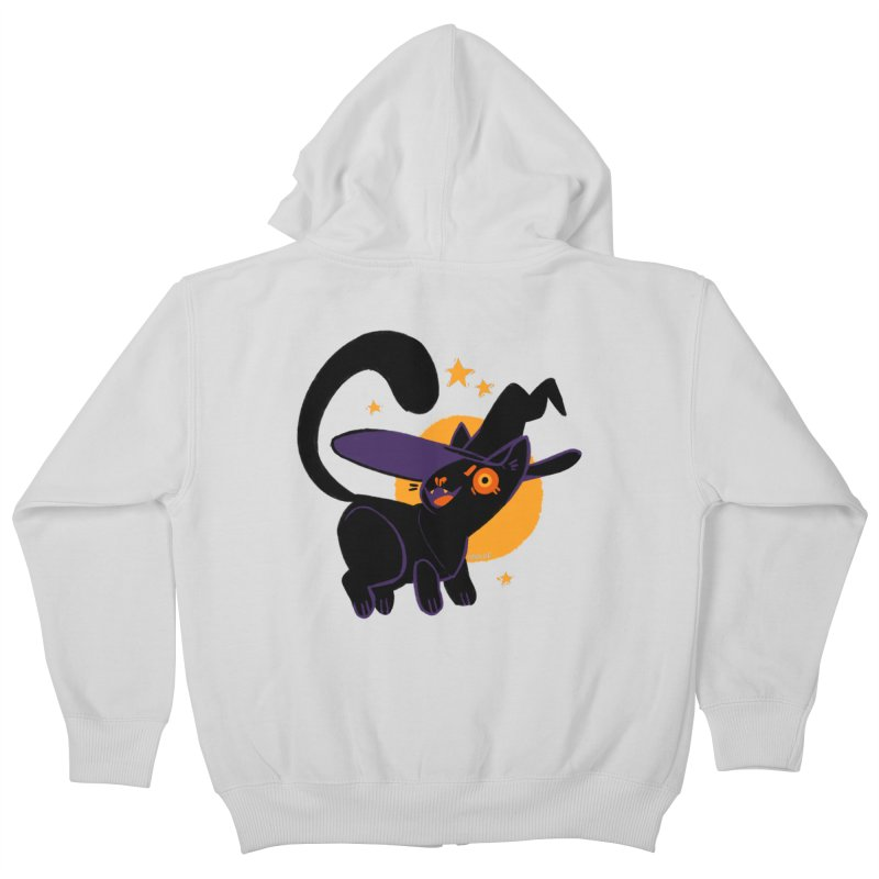 Whiskered Witch of the West Kids Zip-Up Hoody by Kyle Smeallie's Design Store