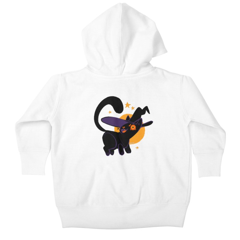 Whiskered Witch of the West Kids Baby Zip-Up Hoody by Kyle Smeallie's Design Store