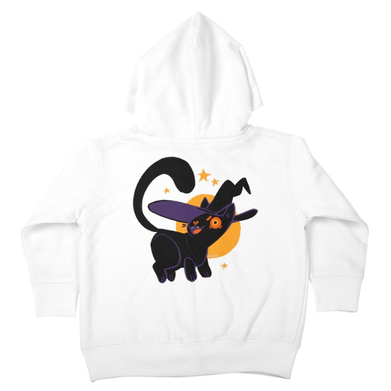 Whiskered Witch of the West Kids Toddler Zip-Up Hoody by Kyle Smeallie's Design Store