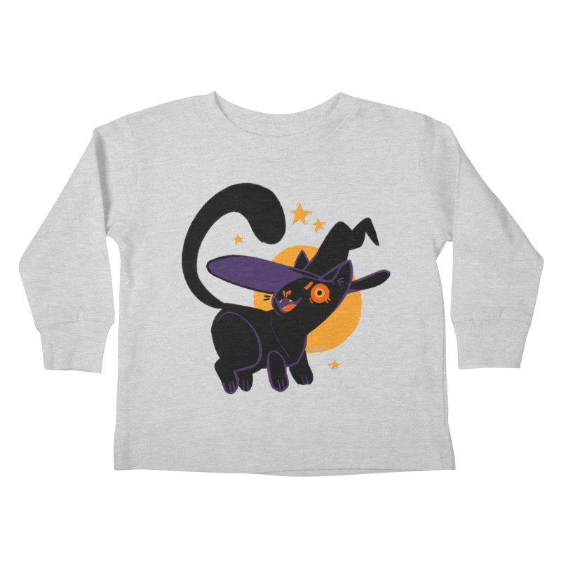 Whiskered Witch of the West Kids Toddler Longsleeve T-Shirt by Kyle Smeallie's Design Store
