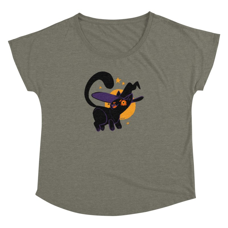 Whiskered Witch of the West Women's Scoop Neck by Kyle Smeallie's Design Store