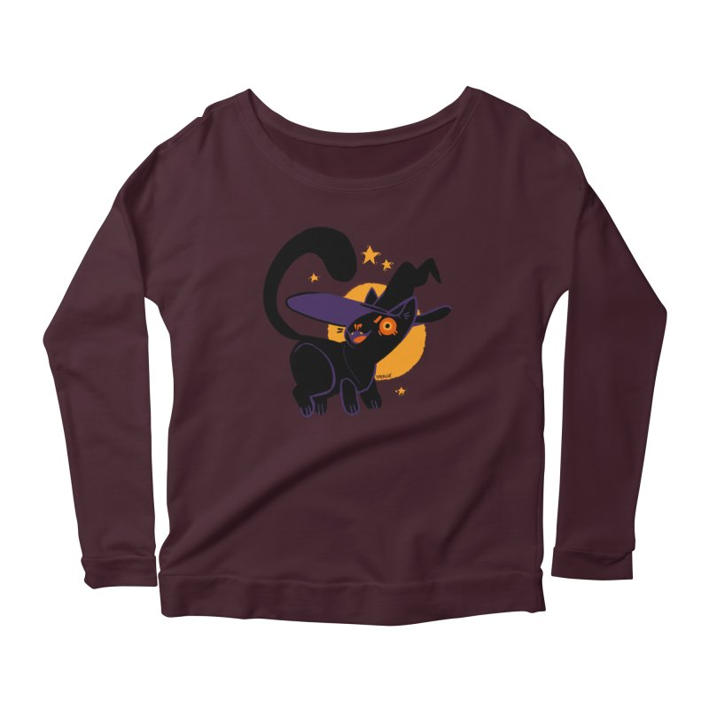 Whiskered Witch of the West Women's Scoop Neck Longsleeve T-Shirt by Kyle Smeallie's Design Store