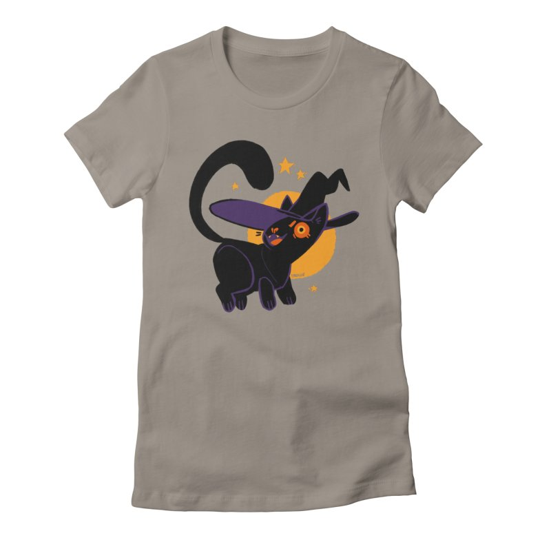 Whiskered Witch of the West Women's Fitted T-Shirt by Kyle Smeallie's Design Store