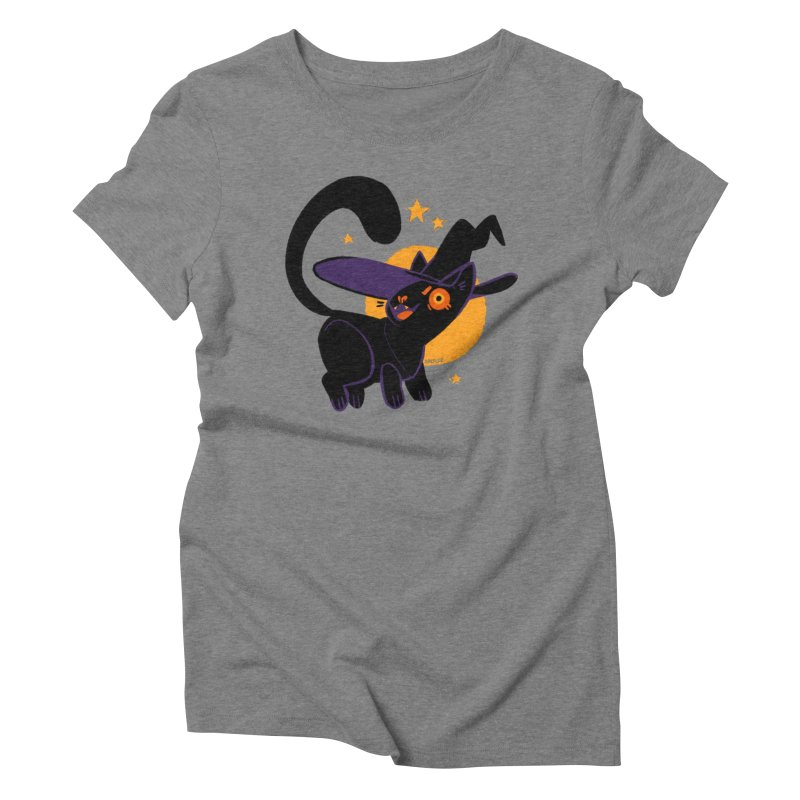 Whiskered Witch of the West Women's Triblend T-Shirt by Kyle Smeallie's Design Store