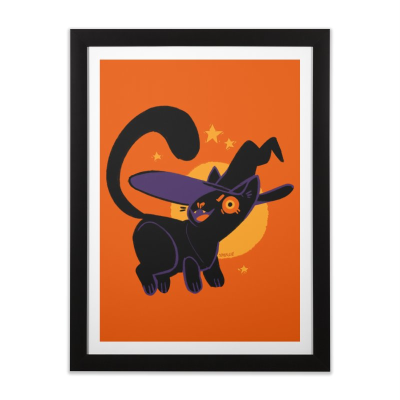 Whiskered Witch of the West Home Framed Fine Art Print by Kyle Smeallie's Design Store
