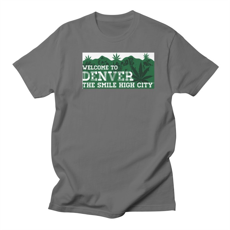 Welcome to Denver The Smile High City Classic Design Men's T-Shirt by Join The Circle at SmileHigh.com