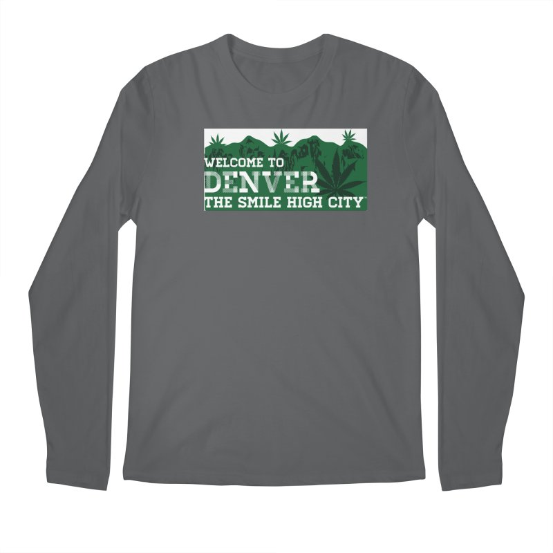 Welcome to Denver The Smile High City Classic Design Men's Longsleeve T-Shirt by Join The Circle at SmileHigh.com