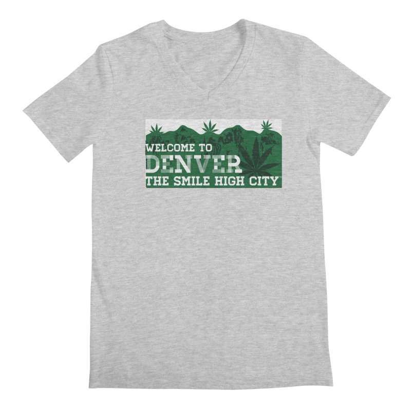 Welcome to Denver The Smile High City Classic Design Men's V-Neck by Join The Circle at SmileHigh.com