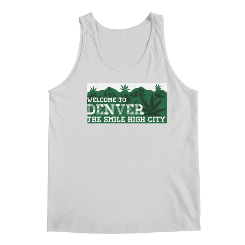 Welcome to Denver The Smile High City Classic Design Men's Tank by Join The Circle at SmileHigh.com