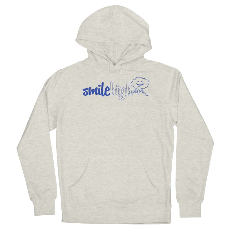 Smile High Classic Blue Line Design Men's Pullover Hoody by Join The Circle at SmileHigh.com