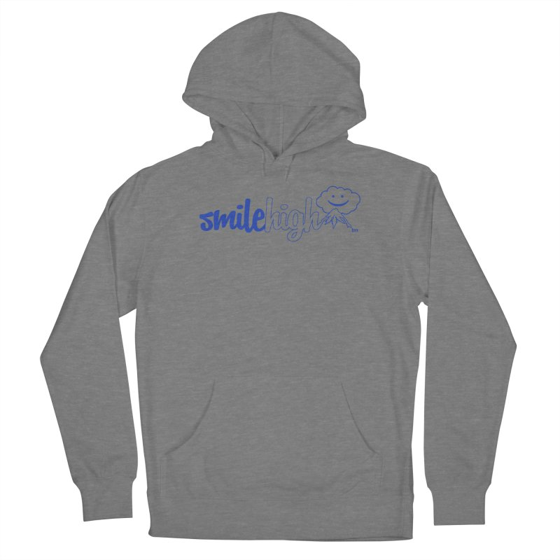 Smile High Classic Blue Line Design Women's Pullover Hoody by Join The Circle at SmileHigh.com