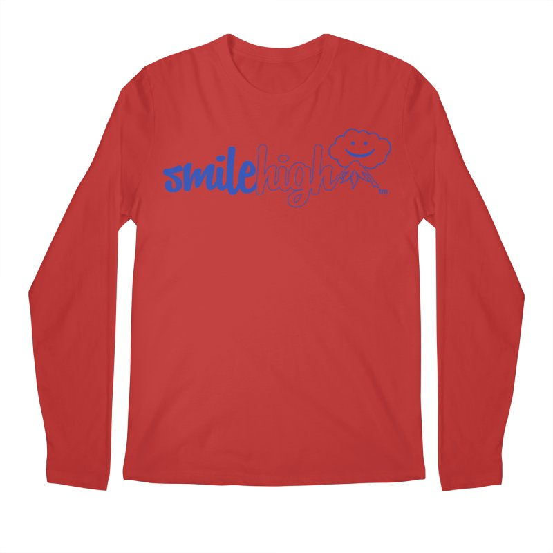 Smile High Classic Blue Line Design Men's Longsleeve T-Shirt by Join The Circle at SmileHigh.com