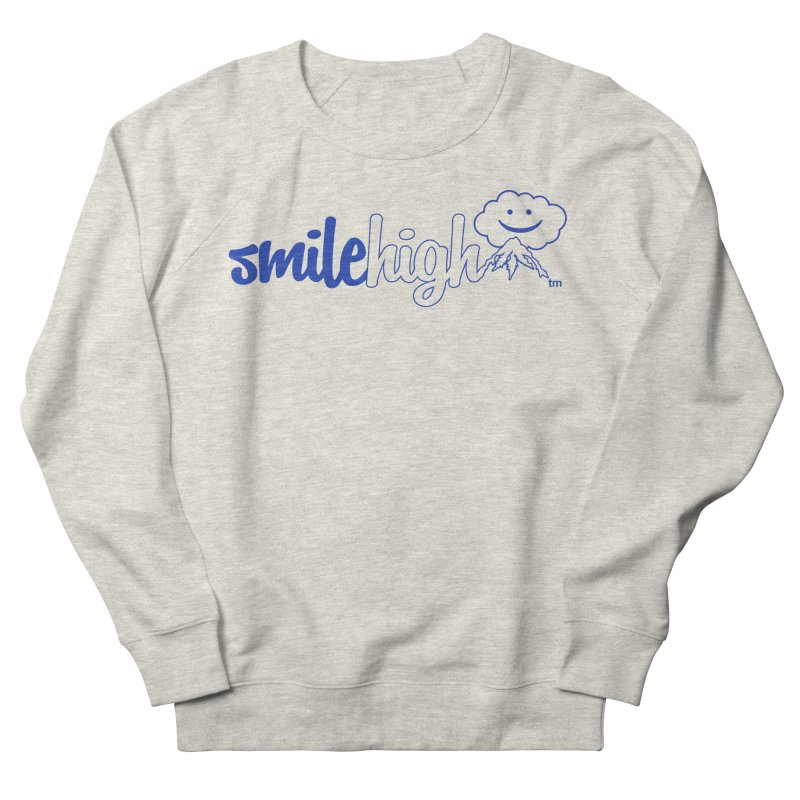 Smile High Classic Blue Line Design Men's Sweatshirt by Join The Circle at SmileHigh.com