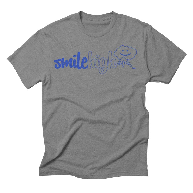 Smile High Classic Blue Line Design Men's T-Shirt by Join The Circle at SmileHigh.com
