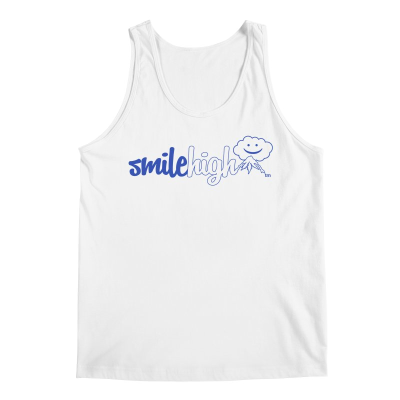 Smile High Classic Blue Line Design Men's Tank by Join The Circle at SmileHigh.com