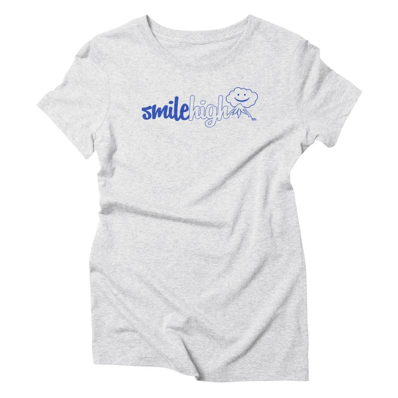 Smile High Classic Blue Line Design Women's T-Shirt by Join The Circle at SmileHigh.com